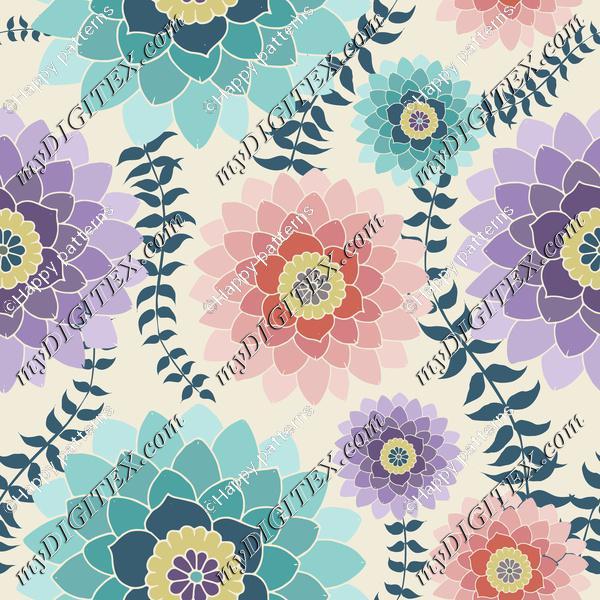 Colorful Pretty Floral