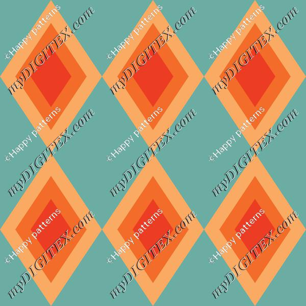 Retro Rhombus Pattern