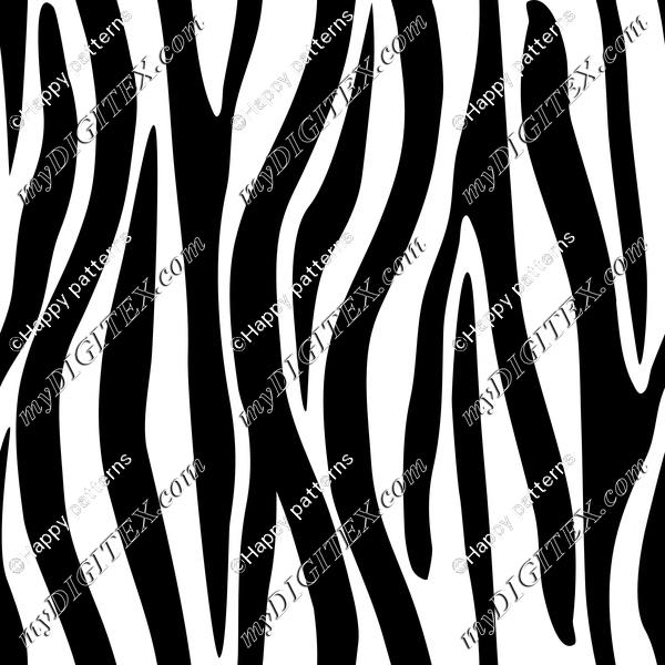 Zebra Skin Black and White Zebra Stripes