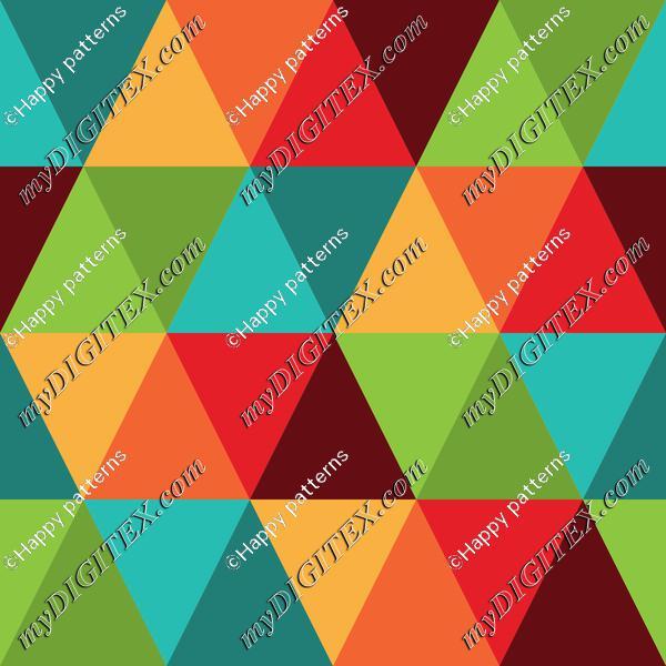 Retro Raibow Abstract Geometric Pattern