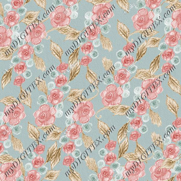Crayon roses background