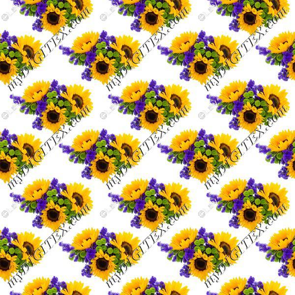 Sunflowers pattern