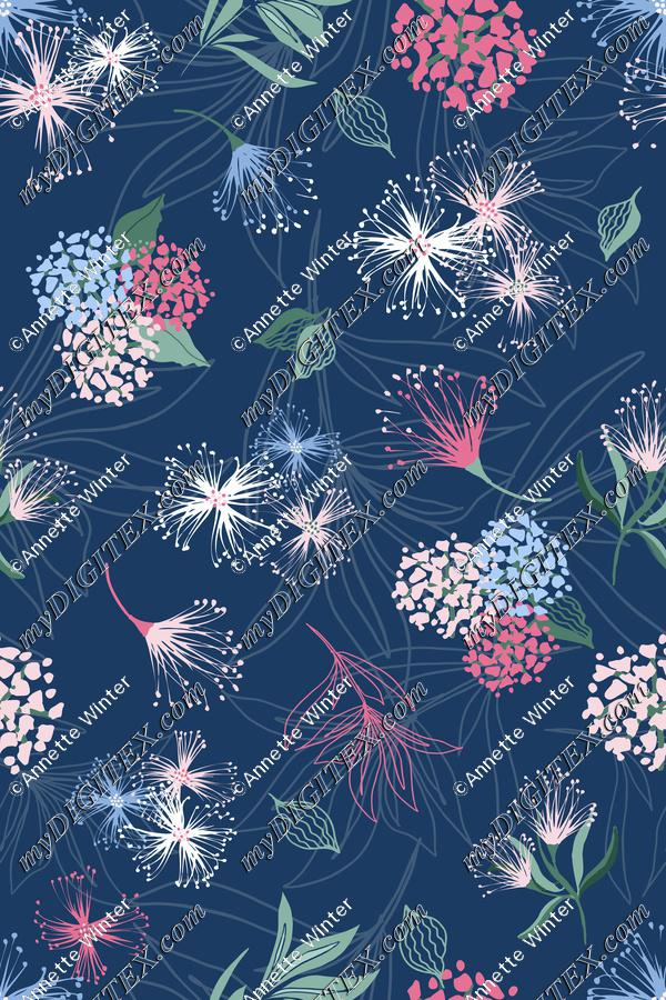 Whimsical Summer Flowers Print