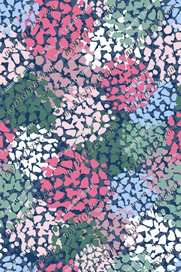 Abstract Hydrangea Print