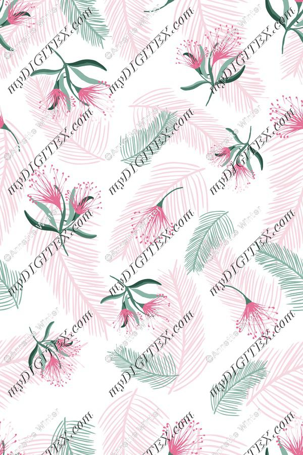 Soft Tropical Fabric Print