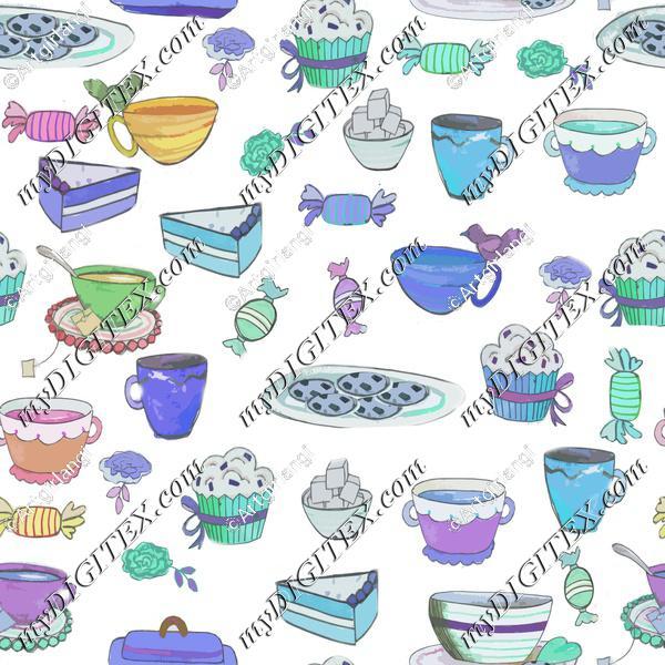 tea party blue
