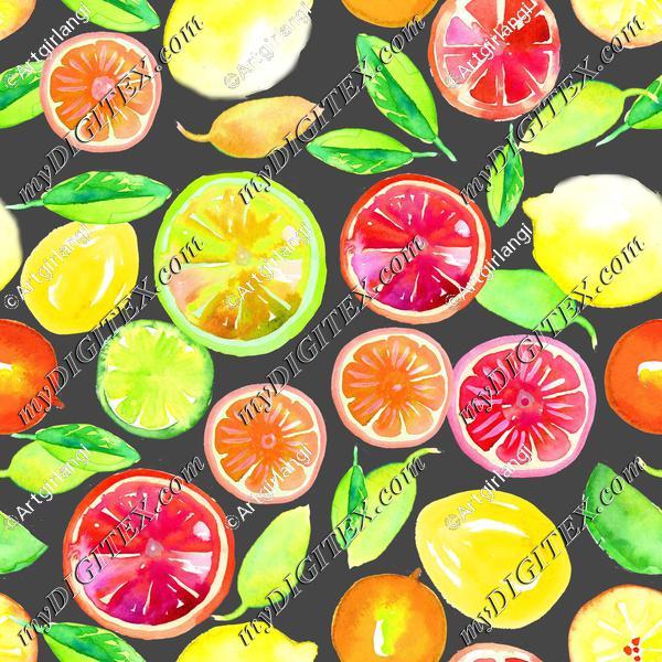 Citrus in Watercolor Main