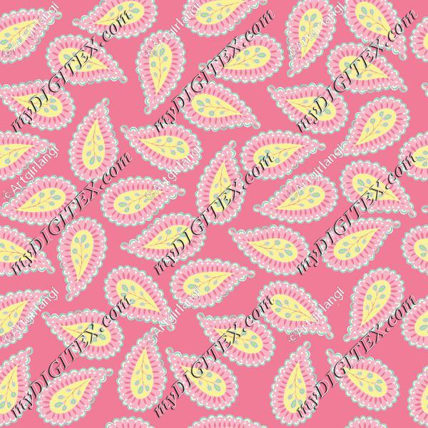 Pastel Paisley coord. pink bg-01
