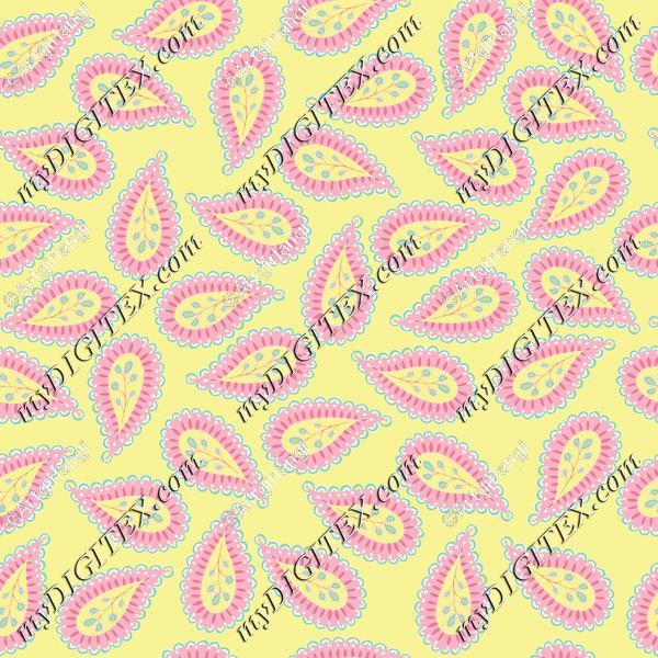 Pastel Paisley coord. yellow bg-01