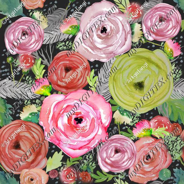 Beautiful Watercolor Floral