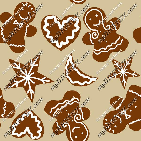 Gingerbreads Christmas Pattern