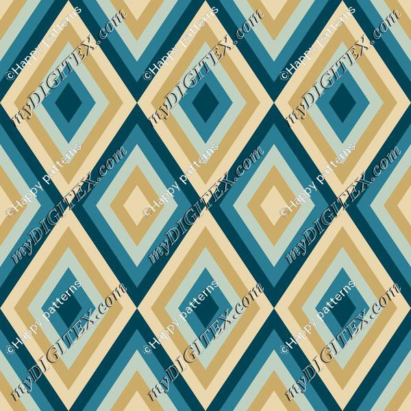 Geometric Abstract Pattern Soft Blue