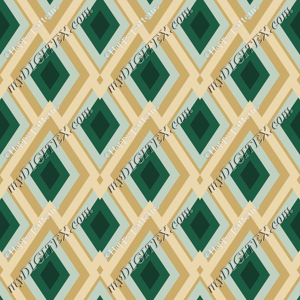 Abstract Geometric pattern with Green, Winter Pattern
