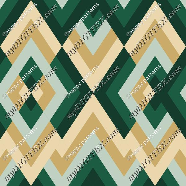 Abstract Geometric  Pattern with Green