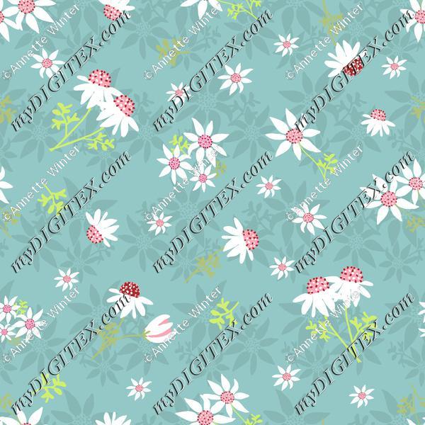 Flannel-Flowers-Green