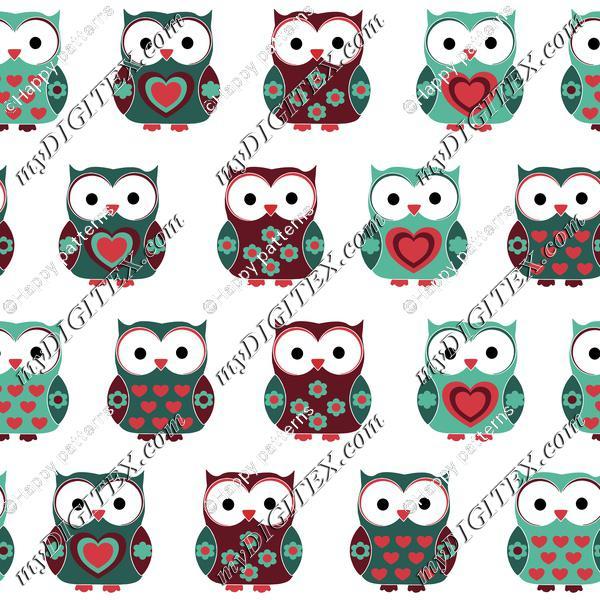Cute Christmas Owls