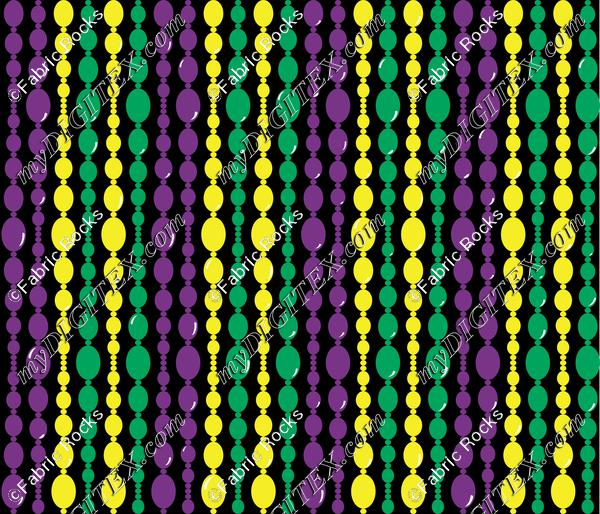 Mardi Gras Bead Curtain
