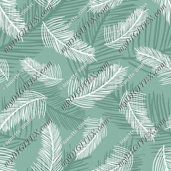 Palm Leaves Green Back