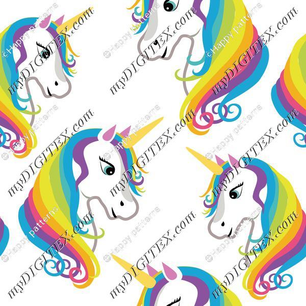 Cute Unicorns on White