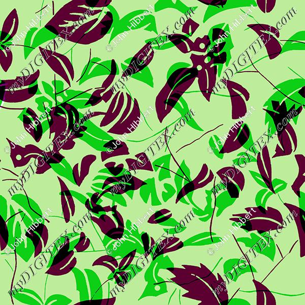 Green and wine leaves