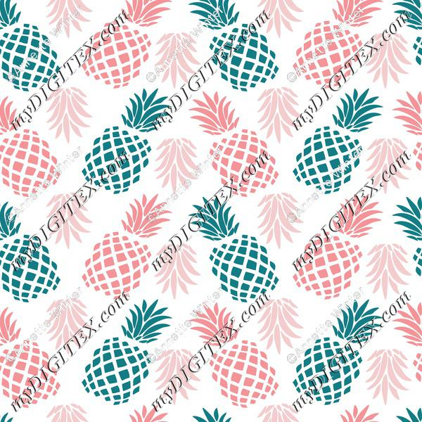 Pineapples-green-pink