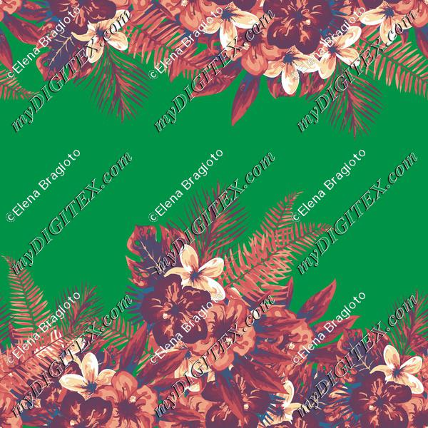 Tropical flowers green
