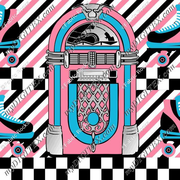 Rock-a-Billy Roller Rink, striped