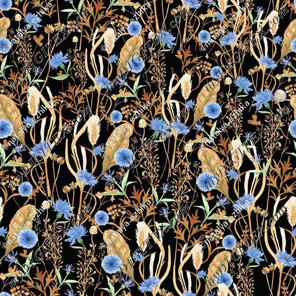 NK121-grass withcornflower