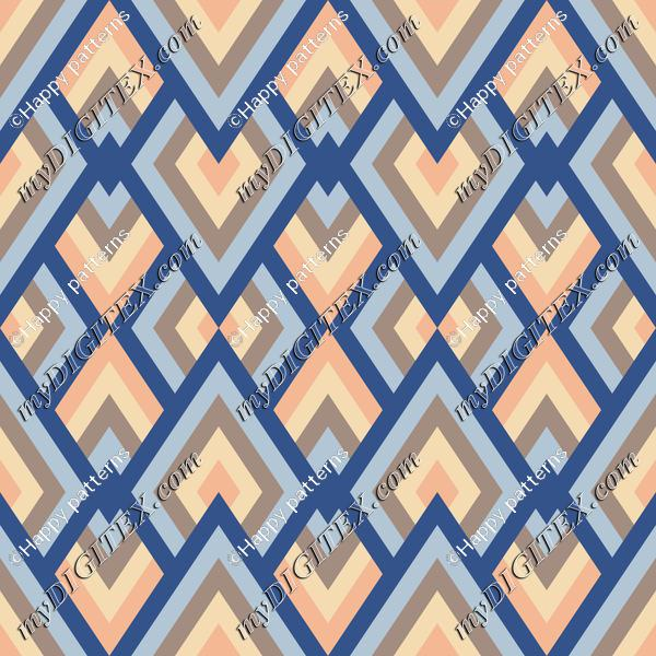 Abstract geometric pattern in Classic blue, beach color pallette