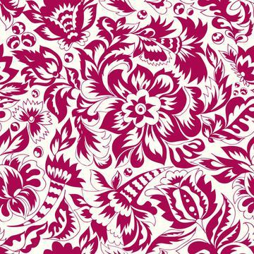 Folk floral motif