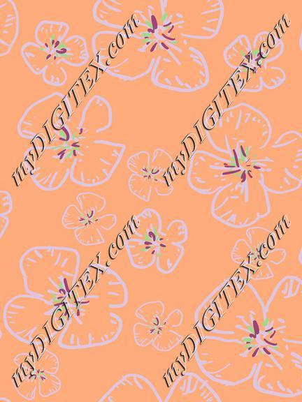 Flowers in Orange