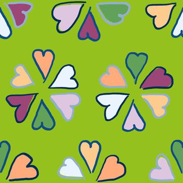Sweetheart candy in green