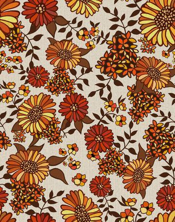 Retro 70s vintage style flowers