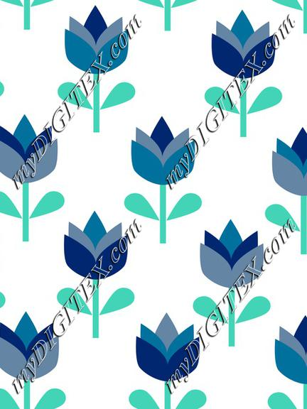 Blue Flowers, Tulips