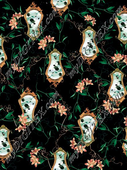 ludic leaves print ornamental print