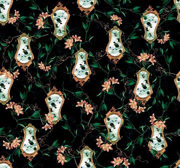 ludic leaves print ornamental print