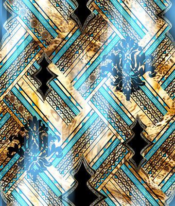 fashion geometric blue design