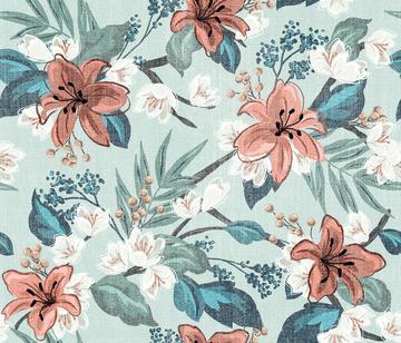 Textured Carnation Chintz - LightGreen