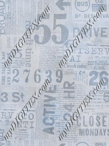 Grunge Newspaper Blue