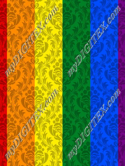 Pride Flag Damask
