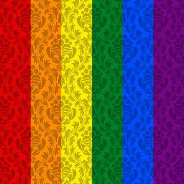 Pride Flag Damask