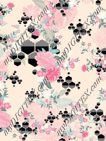 hexagon floral