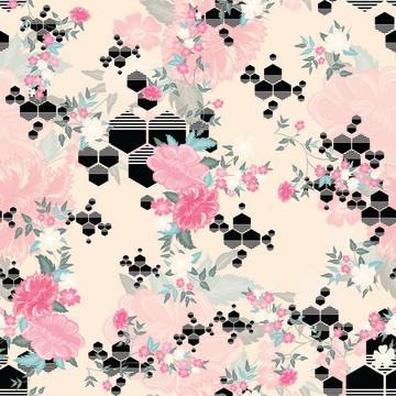 hexagon floral