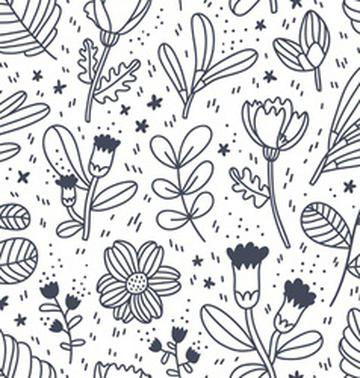 black-and-white-decorative-floral-pattern-vector-4687499