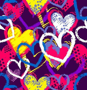 abstract-seamless-hearts-pattern-drawing-600w-773118865