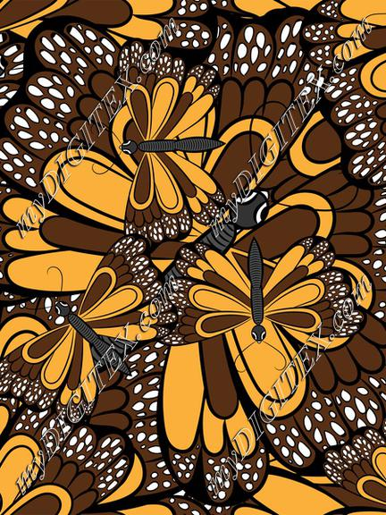 butterfly all over repeat pattern