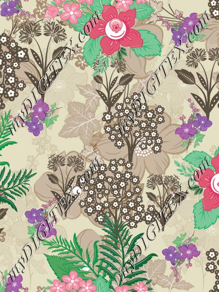 Seamless repeat pattern floral