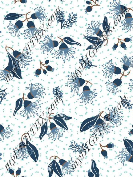Flowering Gum Blossom Blue