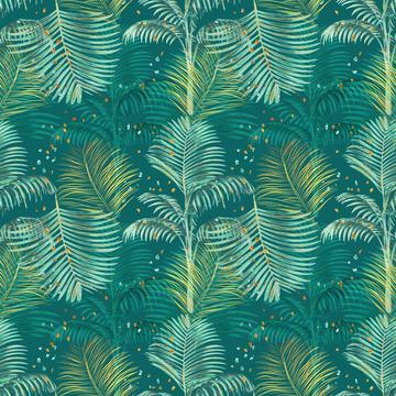 Lush tropics leaves green