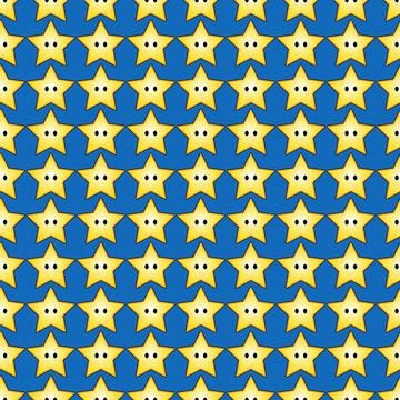 Super Mario Stars Blue